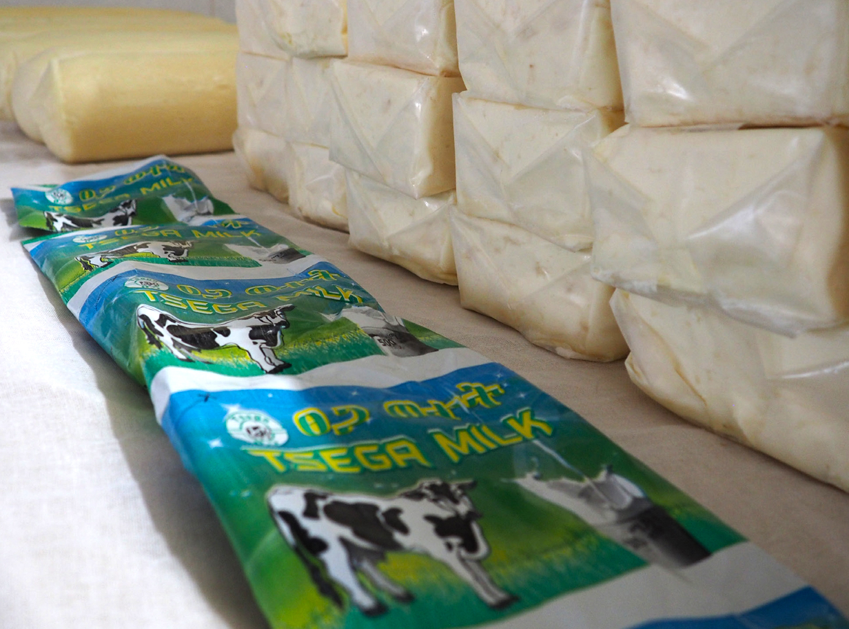 Cheese and milk produced by Rut & Hirut.